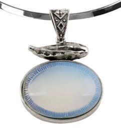 Edelstenen ketting Sea Opal Choker