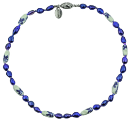 Zoetwater parelketting Hollands Glorie Klomp Blauw