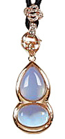 Edelstenen ketting Sea Opal Gold