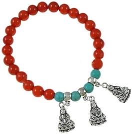Koralen armband Coral Buddha