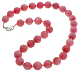 Edelstenen ketting Facet Rhodonite Ball