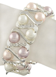 Mother of Pearl parel armband Double Shell Pearl Bling Soft Colors