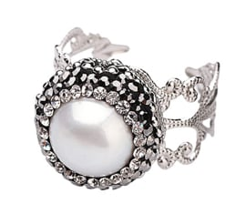 Zoetwater parel ring Bright Pearl Small