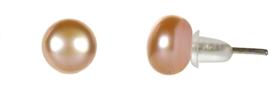 Zoetwater parel oorbellen Petite Peach