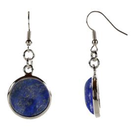 Edelstenen oorbellen Lapis Lazuli Round