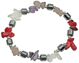 Edelstenen armband Hematite Purple Red Gemstone