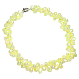 Zoetwater parelketting Yellow Babe