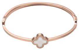 Parelmoeren armband Rose Gold White Shell