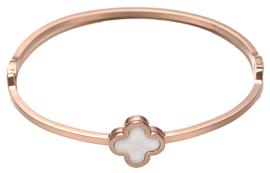 Parelmoeren armband Rose Gold White Shell