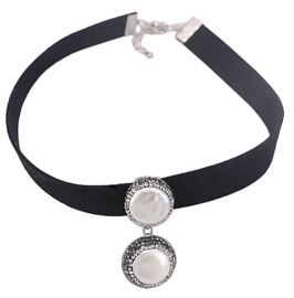 Zoetwater parelketting Bright Coin Choker