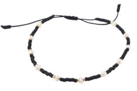 Zoetwater parel armband Mini Pearl Bead Black
