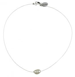 Zoetwater parelketting Single Pearl Wire W