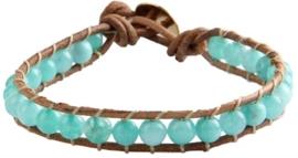 Edelstenen armband Wrap Green Aquamarine