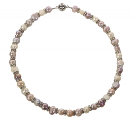 Zoetwater parelketting Bling Pearl Soft Colors