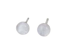 Edelstenen oorbellen Dome Moonstone Silver