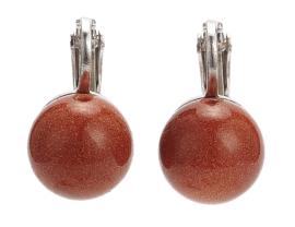 Edelstenen oorbellen Goldstone Clips