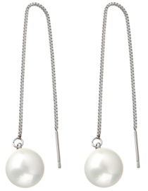 Mother of pearl parel oorbellen Shell Pearl White Chain