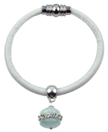 Edelstenen armband Cat's Eye White Bling