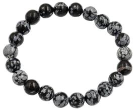 Edelstenen armband Snowflake Obsidian