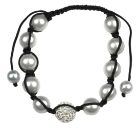 Mother of pearl parel armband Samballa Sparkling Grey