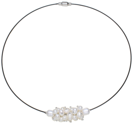 Zoetwater parelketting White Oval Ball