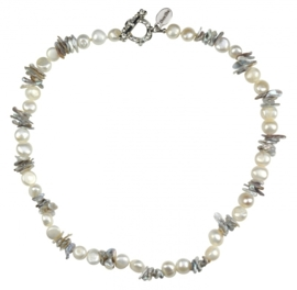 Zoetwater parelketting Pearl Grey Chip