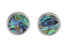 Parelmoeren oorbellen Abalone Stud Round