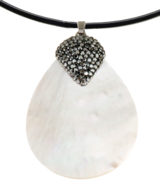 Parelmoeren ketting Bright Shell White