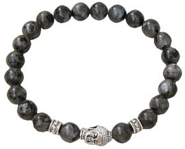 Edelstenen armband Buddha Larvikite
