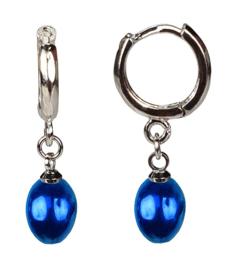 Zoetwater parel oorbellen Blue Bells