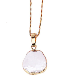 Zoetwater parelketting One Gold Coin Pearl Chain