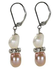 Zoetwater parel oorbellen Bling Pearl Soft Colors