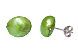 Zoetwater parel oorbellen Little Bling Bold Green Pearl