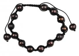 Zoetwater parel armband Sambala Brown Pearl