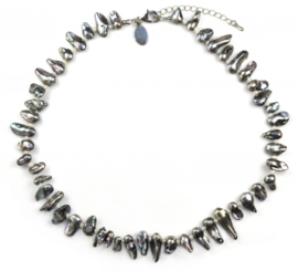 Zoetwater parelketting Pearl Blister AB Grey