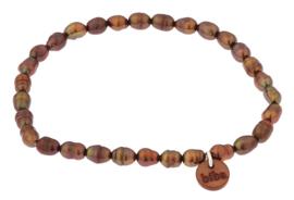 Zoetwater parel armband Biba Brown Rice Pearl