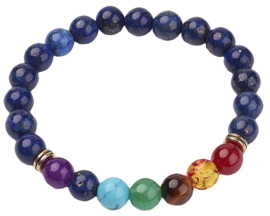 Edelstenen armband Lapis Lazuli Mix Color Gemstones