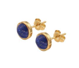 Edelstenen oorbellen Lapis Lazuli Small Gold