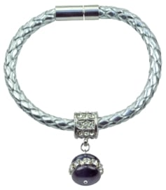 Edelstenen armband Cat's Eye Blue Double Bling