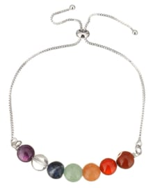 Edelstenen armband Adjustable Gemstone Rainbow