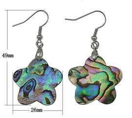 Parelmoeren oorbellen Abalone Flower