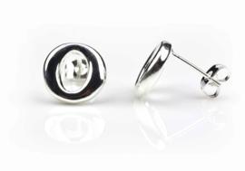 "Verzilverde oorbellen Silver ""O"""