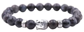 Edelstenen armband Buddha Black Labradorite