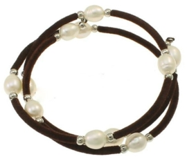 Zoetwater parel armband Velveteen Pearl