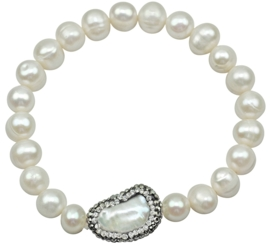 Zoetwater parel armband Bling Biwa Pearl