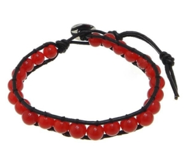 Marmerenen armband Wrap Red Marble