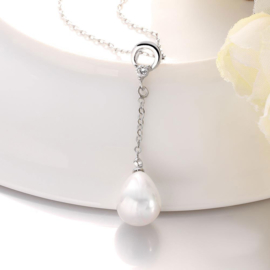 Mother of pearl parelketting Bling Dangling Shell Teardrop
