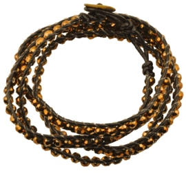 Kristallen armband Golden Brown