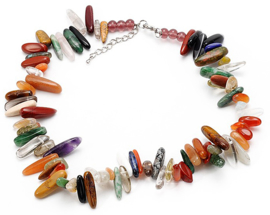 Edelstenen ketting Gemstone Colorfull Chips