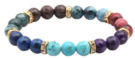 Edelstenen armband Golden Bling Mix Gemstones